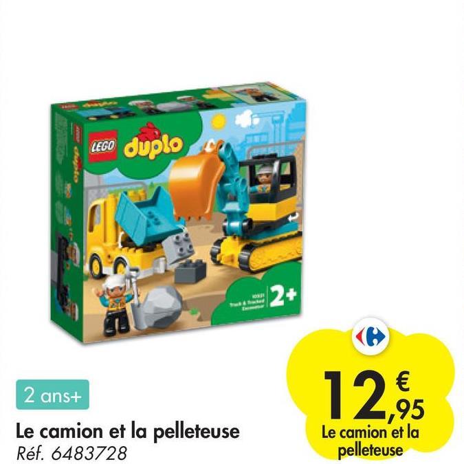 LEGO LEGO duplo 2+ 12: 2 ans+ Le camion et la pelleteuse Réf. 6483728 Le camion et la pelleteuse