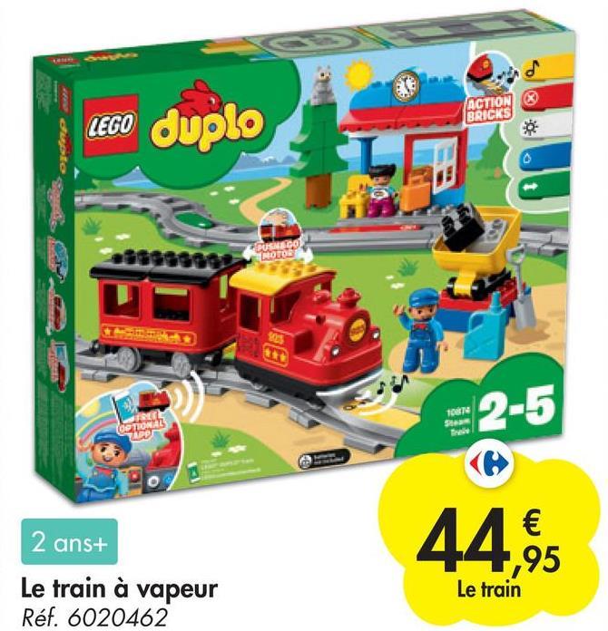 o ACTION BRICKS LEGO duplo con dato RUSSICO MOTO YO 10674 S logo3 2 ans+ Le train à vapeur Réf. 6020462 44,95 Le train