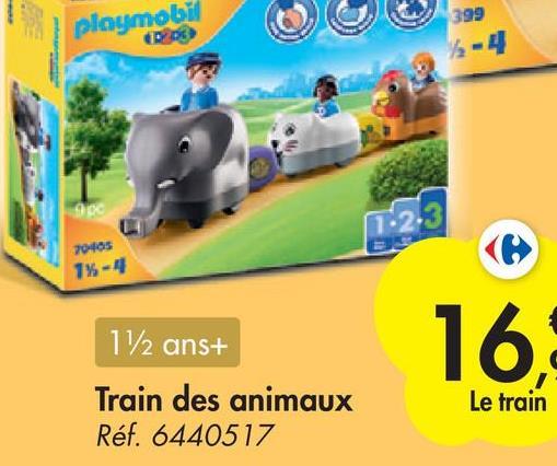 playmobil 399 12-4 1.2.3 23 7040s 1%- 16. 112 ans+ Train des animaux Réf. 6440517 Le train