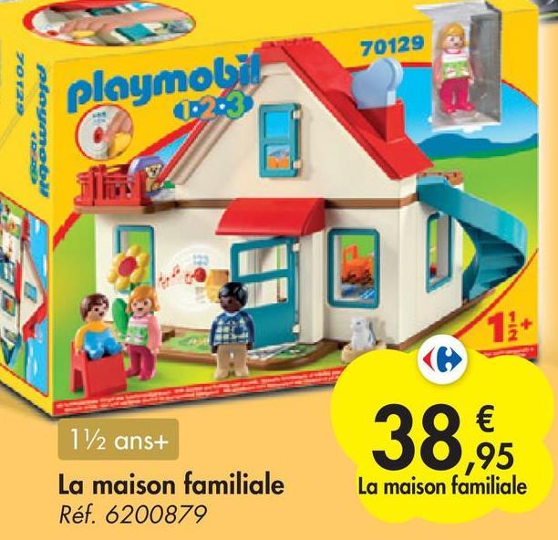 70129 FOF29 playmobil 02:3 மயைfore 11+ 38.35 112 ans+ La maison familiale Réf. 6200879 La maison familiale