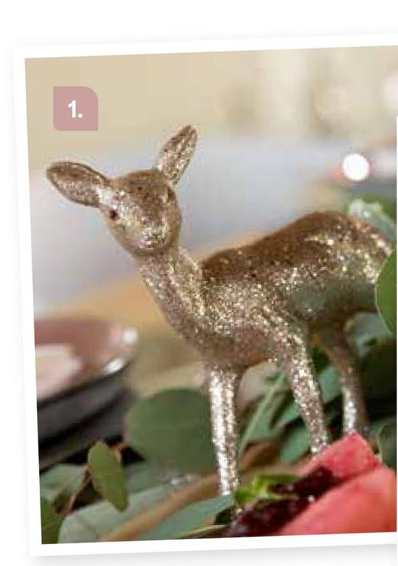 "AVA selection Rendier Champagne Glitter 12x14,5cm Andere <a href=""/nl/kerst/themas/frosted-poetry"" target=""_blank""> Klik hier om terug te gaan naar alles van het thema Frosted Poetry.</a>"