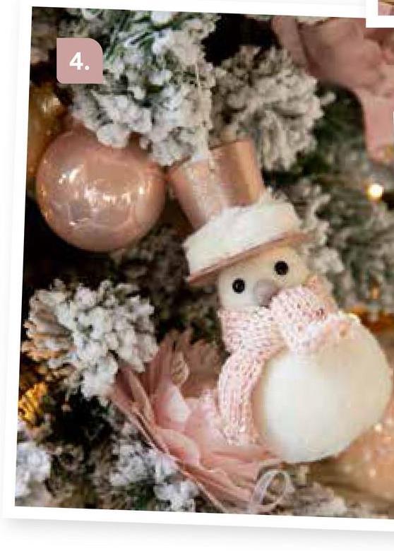 """AVA selection Sneeuwman Met Hoed 10x4x13cm Wit-Roze Wit <a href=""""/nl/kerst/themas/frosted-poetry"""" target=""""_blank""""> Klik hier om terug te gaan naar alles van het thema Frosted Poetry.</a>"""