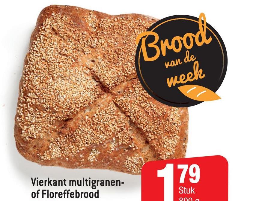 Brood van de week 79 Vierkant multigranen- of Floreffebrood 17 Stuk 000 a