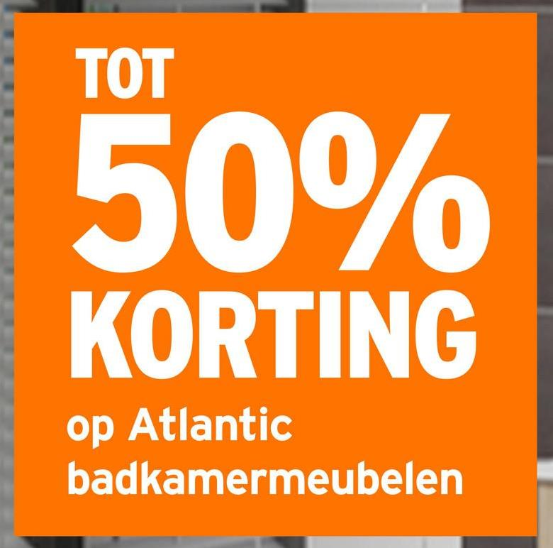 TOT 50% KORTING op Atlantic badkamermeubelen