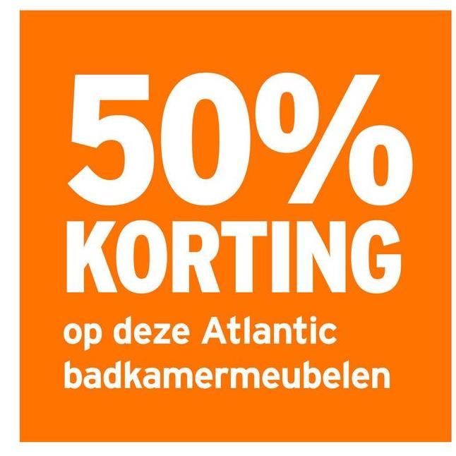 50% KORTING op deze Atlantic badkamermeubelen