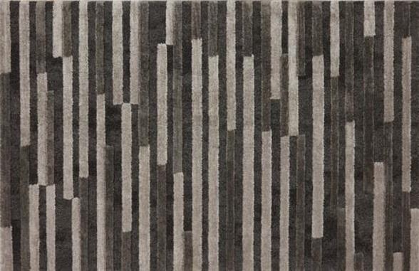 Vloerkleed Brawley Antraciet Vloerkleed met strookdessin in antraciet tinten. 230x160 cm (lxb).