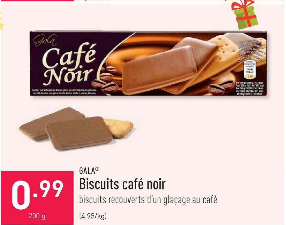 Biscuits café noir biscuits recouverts d'un glaçage au café