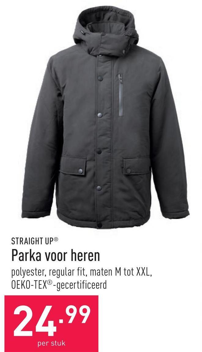 Parka voor heren polyester, regular fit, maten M tot XXL, OEKO-TEX®-gecertificeerd