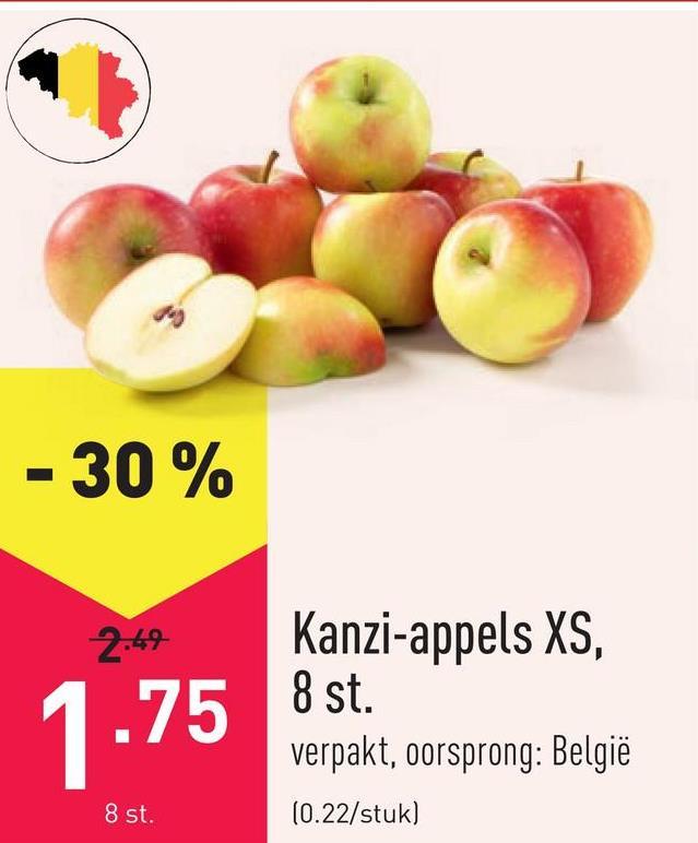 Kanzi-appels XS, 8 st. verpakt, oorsprong: België
