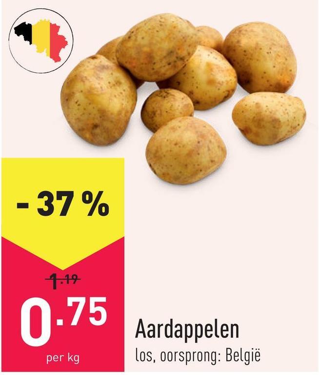 Aardappelen los, oorsprong: België