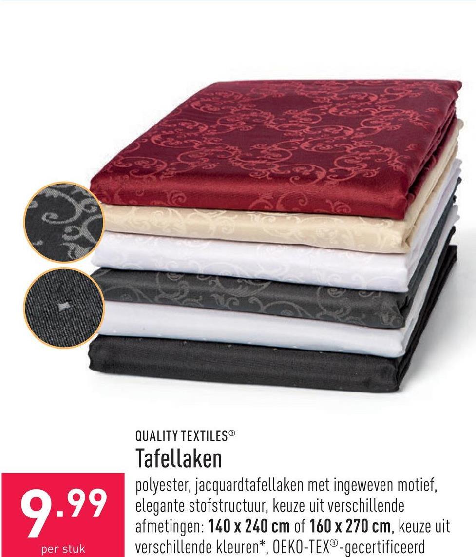 Tafellaken polyester, jacquardtafellaken met ingeweven motief, elegante stofstructuur, keuze uit verschillende afmetingen: 140 x 240 cm of 160 x 270 cm, keuze uit verschillende kleuren*, OEKO-TEX®-gecertificeerd