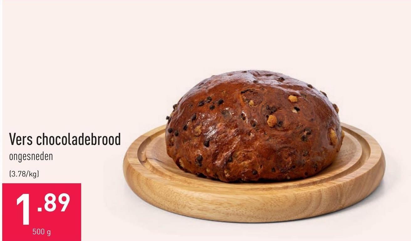 Vers chocoladebrood ongesneden