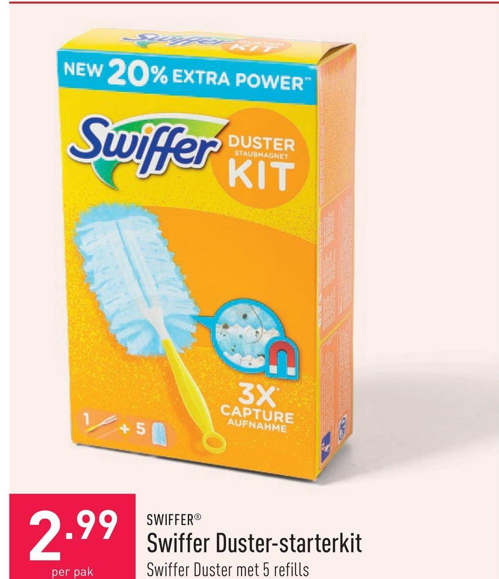 Swiffer Duster-starterkit Swiffer Duster met 5 refills