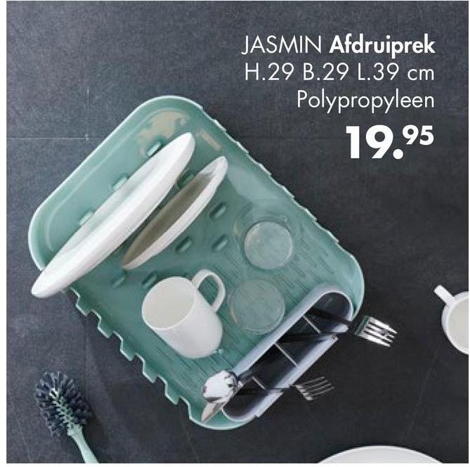JASMIN Afdruiprek H.29 B.29 L.39 cm Polypropyleen 19.95 HE