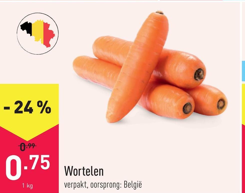 Wortelen verpakt, oorsprong: België