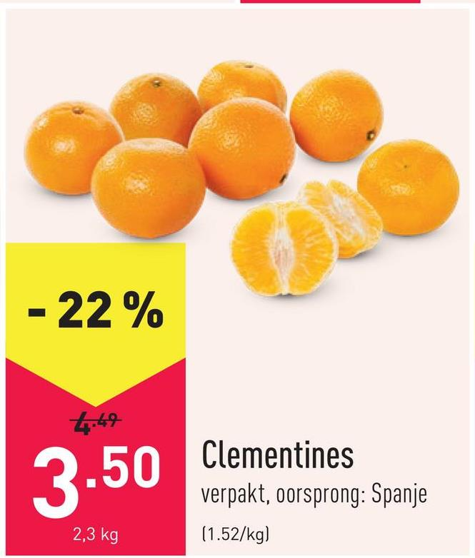 Clementines verpakt, oorsprong: Spanje