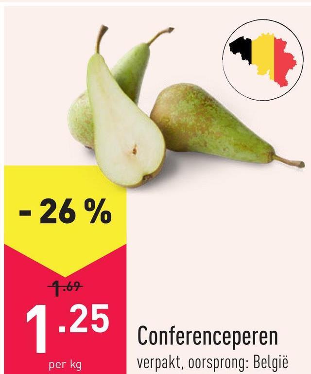 Conferenceperen verpakt, oorsprong: België