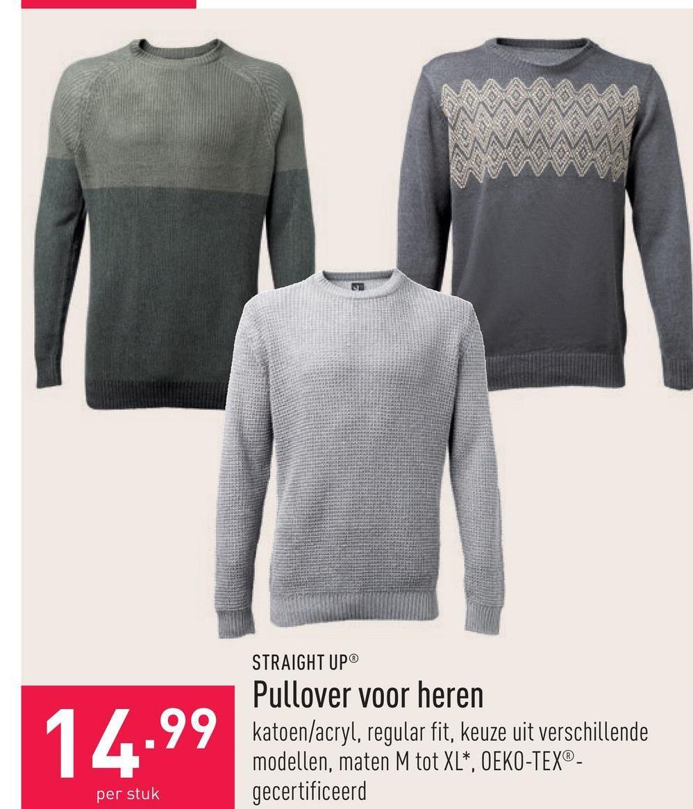 Pullover voor heren katoen/acryl, regular fit, keuze uit verschillende modellen, maten M tot XL*, OEKO-TEX®-gecertificeerd