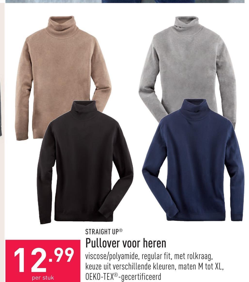 Pullover voor heren viscose/polyamide, regular fit, met rolkraag, keuze uit verschillende kleuren, maten M tot XL, OEKO-TEX®-gecertificeerd