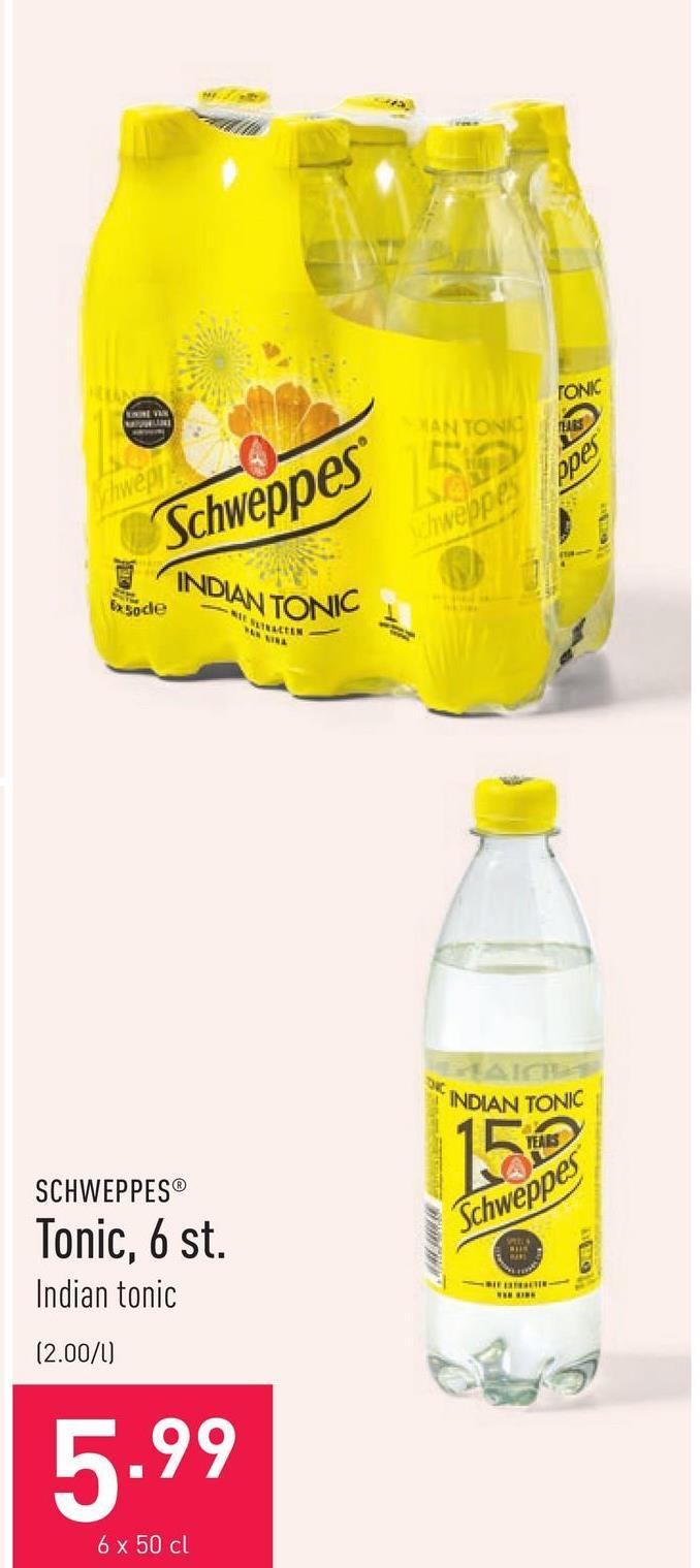 Tonic, 6 st. Indian tonic