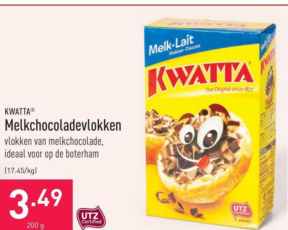 Melkchocoladevlokken vlokken van melkchocolade, ideaal voor op de boterham