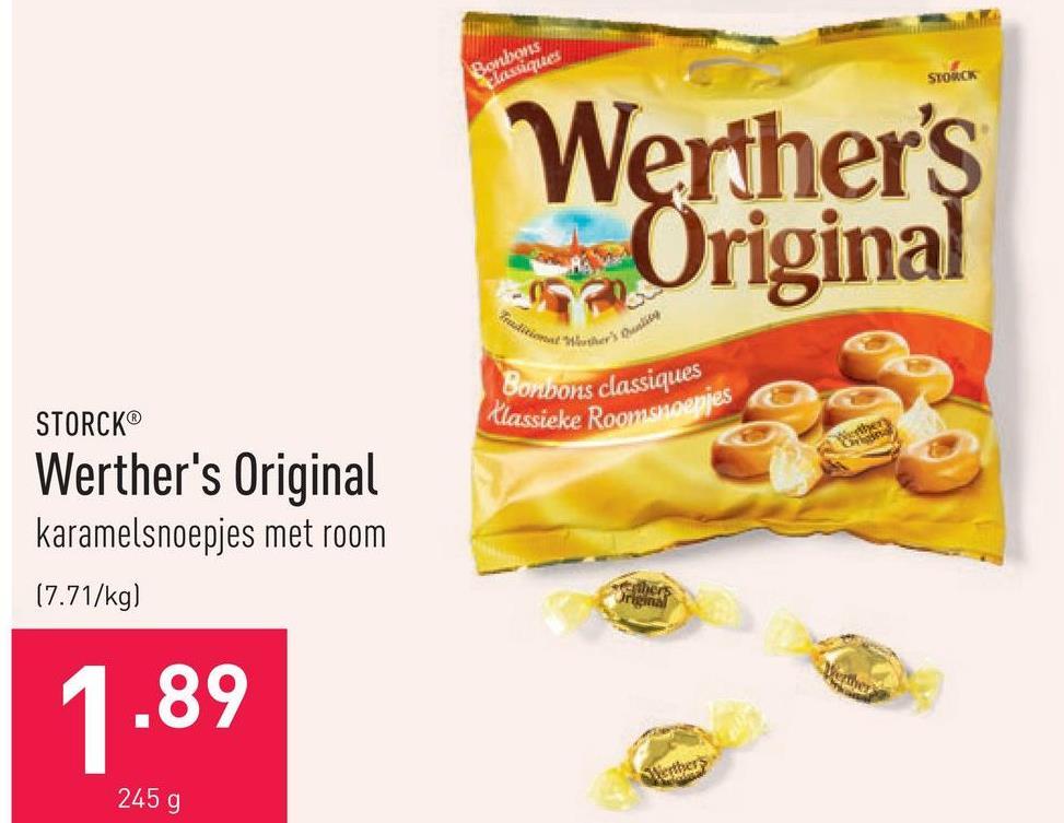 Werther's Original karamelsnoepjes met room