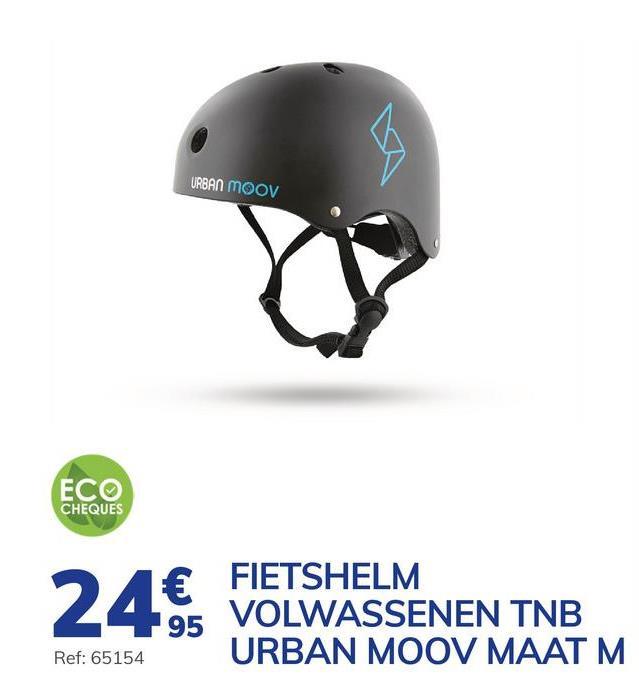 Fietshelm Voor Volwassenen Van Tnb Urban Moov Maat M Fiets veilig en in alle elegantie dankzij deze helm TNB van Urban Moov.Met zijn innovatieve en trendy design is deze helm ideaal voor uw fietstochtjes in de stad.Of u zich nu verplaatst met de step, de fiets of het hoverboard, deze helm zal u beschermen bij een val. De hoes aan de binnenzijde is afneembaar en wasbaar in de machine. Dankzij een regelsysteem met een draaiknop aan de achterkant, en een verstelbare band voor rond uw kin, is het mogelijk om de helm eenvoudig aan te passen aan de vorm van uw hoofd zodat hij steeds goed blijft zitten. Voor meer comfort heeft deze helm 11 luchtgaten waarvan 2 vooren 2 achteraan. Deze helm komt in het zwart en blauw en heeft maat M.. - Innovatief en trendy design. - Uitneembare binnenhoezen. - Past zich op een eenvoudige manier aan de vorm van uw hoofd aan. - 11 ventilatiegaten.