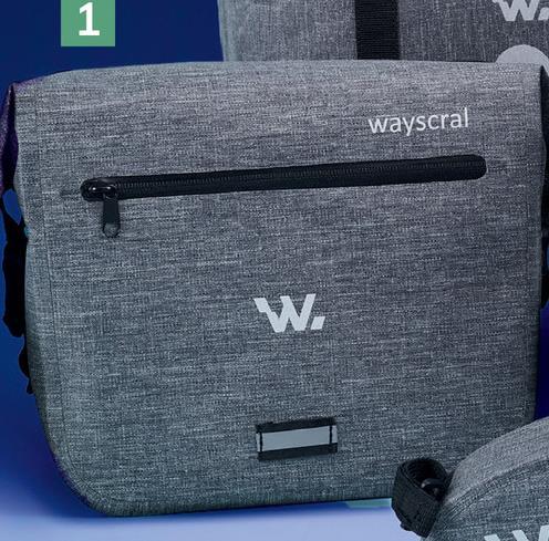 Waterdichte Tas Voor Fietsstuur Wayscral 8,8l De tas voor fietsstuur van Wayscral is ideaal om uw spullen mee te nemen tijdens uw fietstochten in de stad of op het platteland. De tas heeft een modern design. Ze is waterdicht, en zal uw spullen dus op een efficiënte manier beschermen. Het bevestigingssysteem kan op de fiets blijven zitten. Hierdoor kunt u de tas snel vastmaken en van de fiets halen zodat u ze overal mee naartoe kunt nemen.. - Waterdicht. - Makkelijk te bevestigen en weg te nemen. - Hedendaags design.