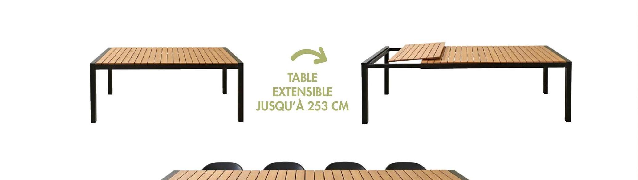 TABLE EXTENSIBLE JUSQU'À 253 CM F
