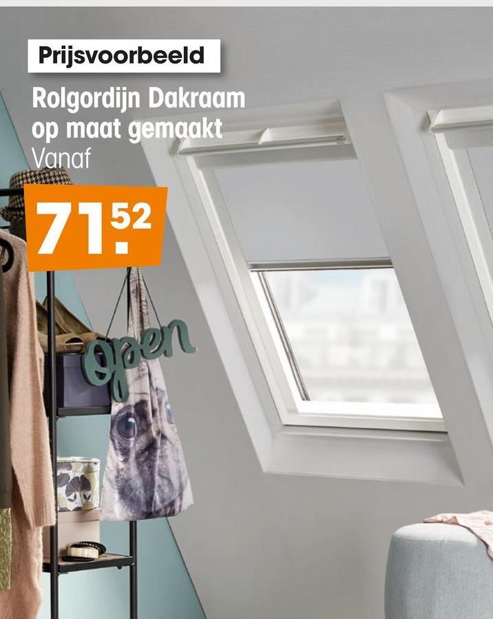 Prijsvoorbeeld Rolgordijn Dakraam op maat gemaakt Vanaf 7152 Waen