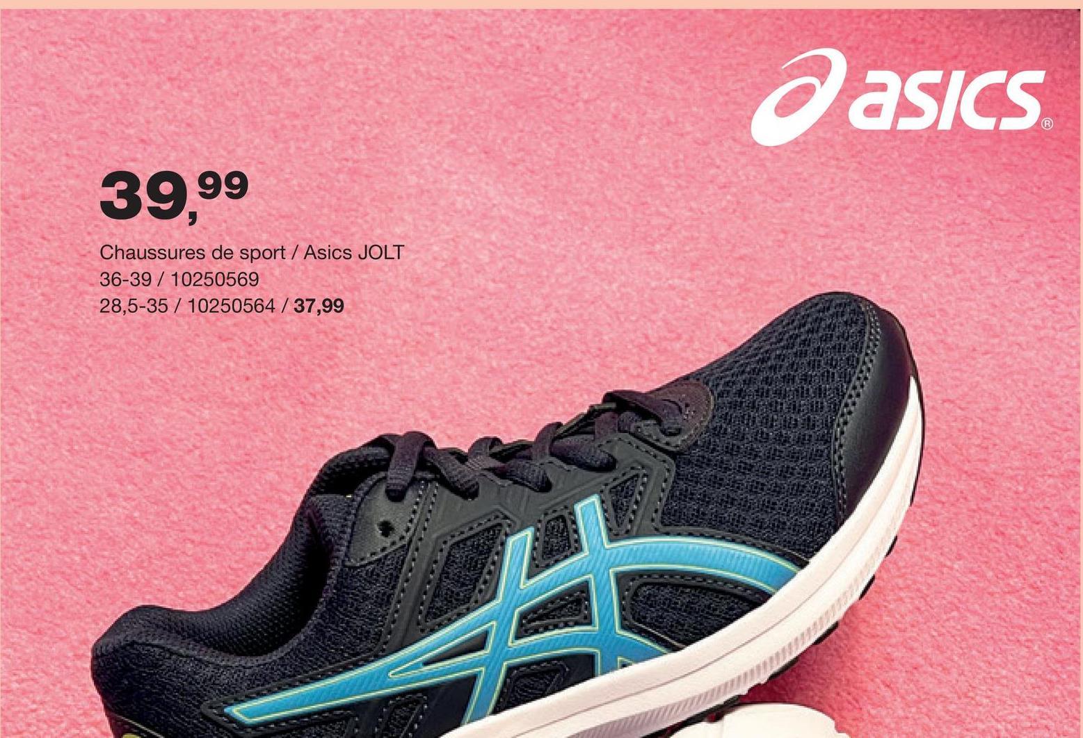 Chaussure de course Jolt 3 PS Asics - Bleu marine Tu cherches des chaussures de course pour garçons ? Découvre immédiatement ces chaussures Asics confortables en bleu pourvues de lacets élastiques et une fermeture à velcro.