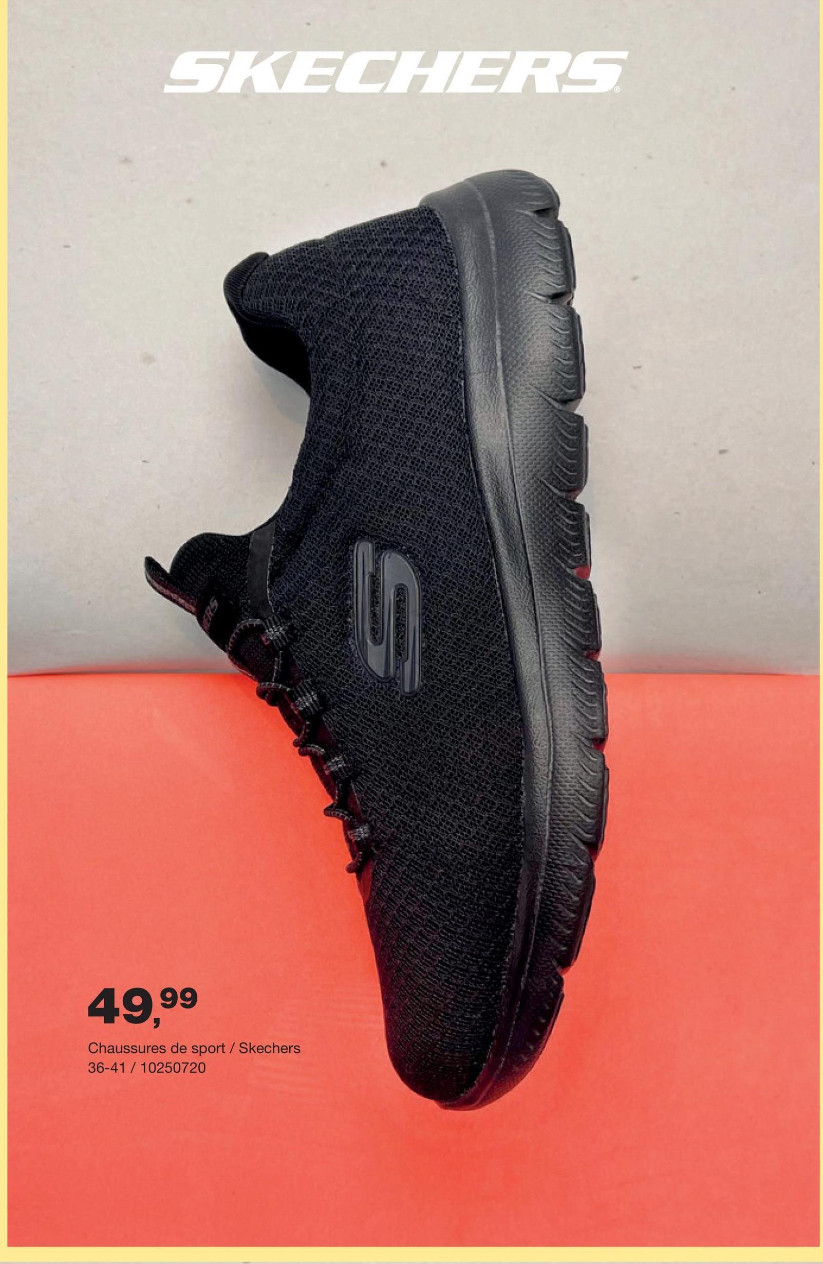 Chaussure de sport Skechers - Noir Fais du sport en style et en tout confort avec ces chaussures de sport sobres en noir pourvues de memory foam confortable pour femmes de la marque de sport Asics.