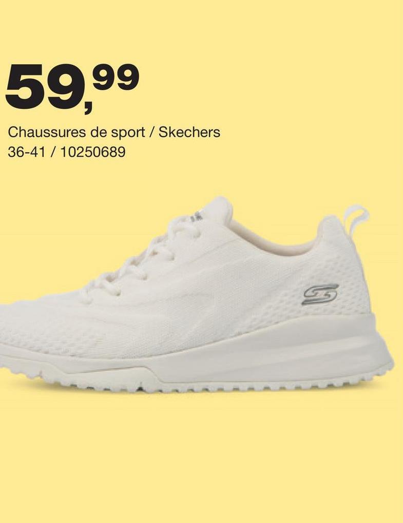 Chaussure de sport Skechers - Blanc cassé Basket sportive à design sobre et memory foam confortable pour femmes de la marque de haute qualité Asics.