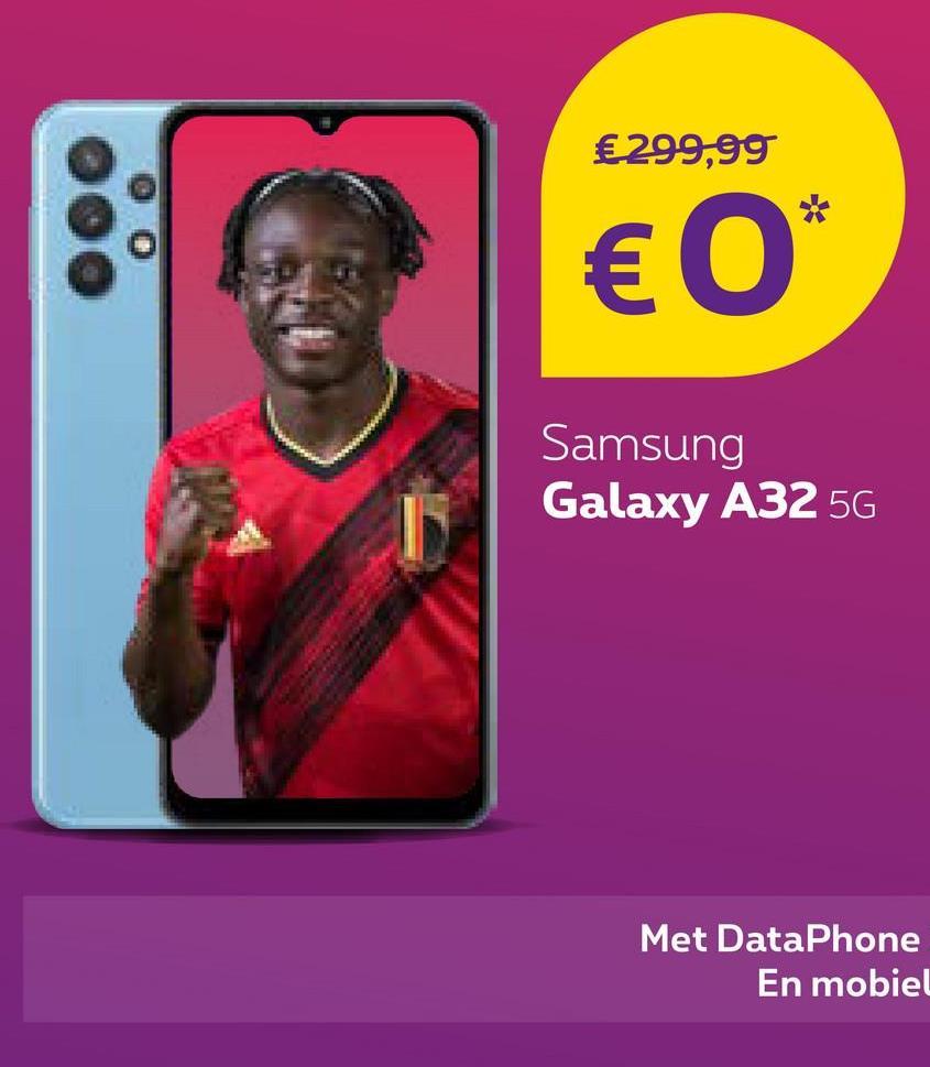 €299,99 € 0* Samsung Galaxy A32 5G Met DataPhone En mobiel