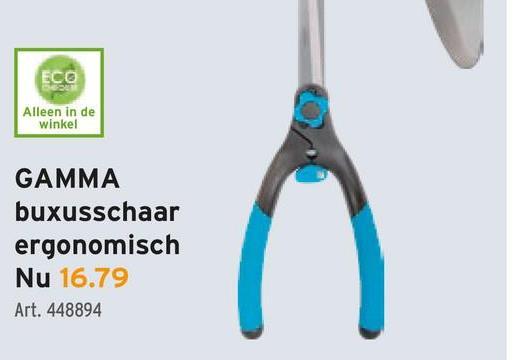 ECO Alleen in de winkel GAMMA buxusschaar ergonomisch Nu 16.79 Art. 448894