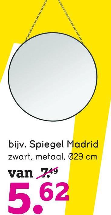 bijv. Spiegel Madrid zwart, metaal, 029 cm van 7,49 5.62