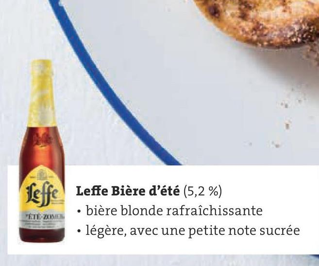 Leffe Leffe Bière d'été (5,2%) bière blonde rafraîchissante • légère, avec une petite note sucrée VETE XWE