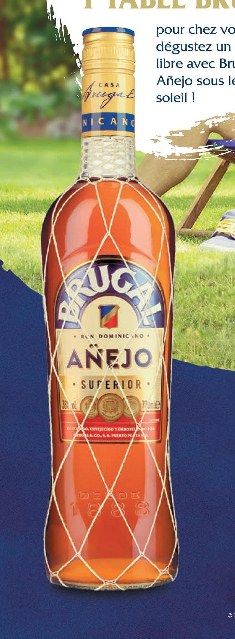 pour chez vo dégustez un libre avec Bru Añejo sous le ringit soleil ! NICANO uc RUN DOMINIC NO. ANEJO SUPERIOR re SOINVEJECIDO Y MOTOR PALCOLA.. TUERTO PLATA