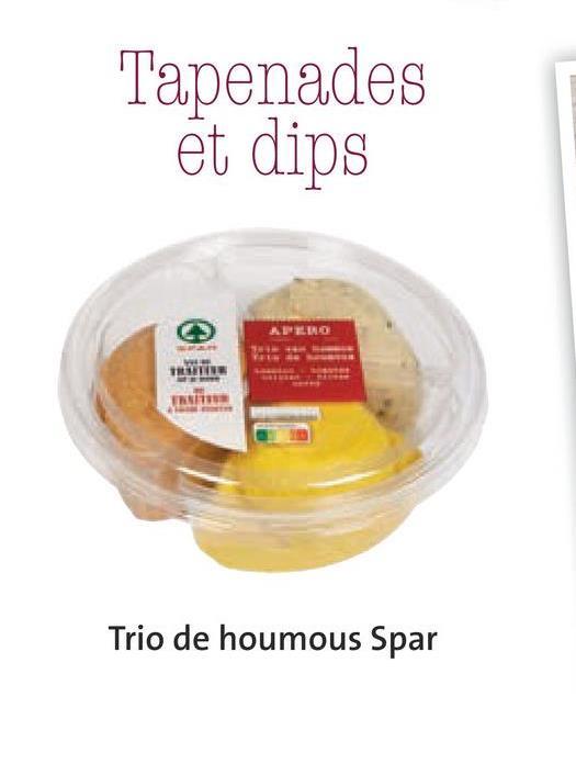 Tapenades et dips APEND 1 Trio de houmous Spar