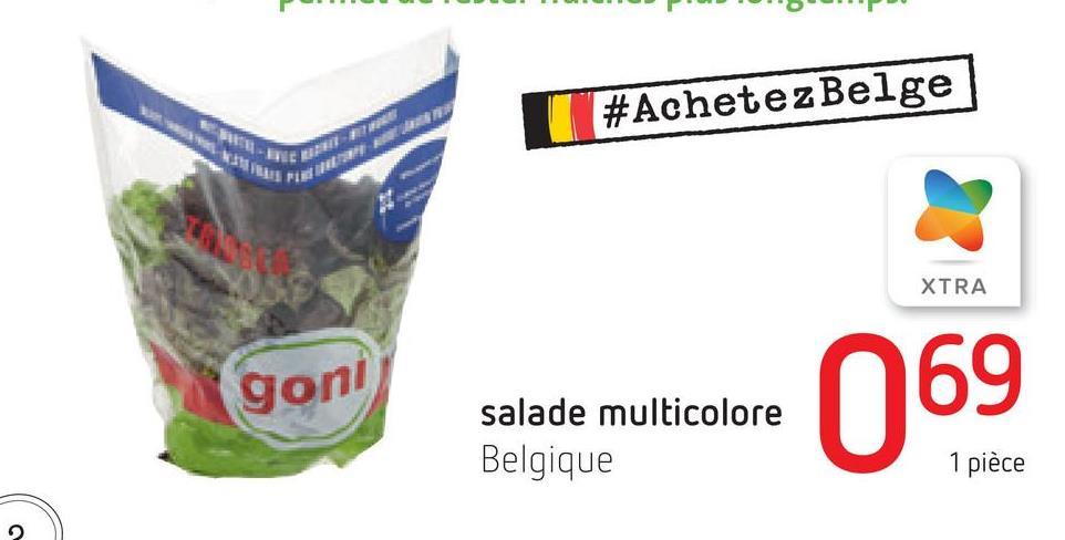 #Achetez Belge NEI 21 A XTRA goni salade multicolore Belgique 069 1 pièce