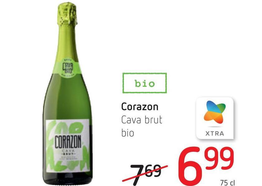 bio Corazon Cava brut bio XTRA CORAZON CEN 769 699 75 cl