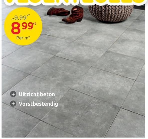 -9,99% 899 Per m2 + Uitzicht beton + Vorstbestendig