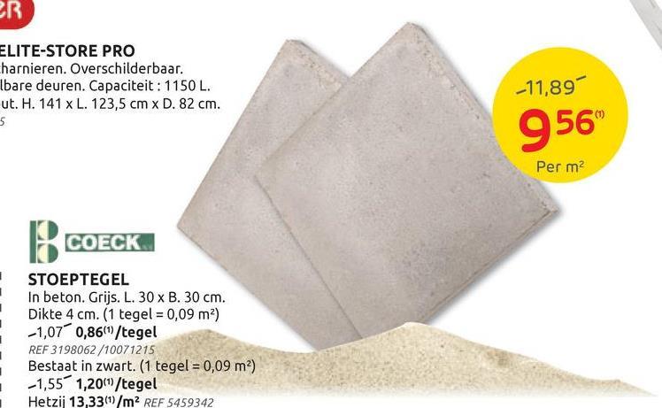 Dalle béton gris 30x30cm La dalle de béton est un choix classique et est parfois appelé «dalle de trottoir» dans le langage courant. Le carrelage de béton gris s'intègre dans n'importe quel jardin et même dans tout autre environnement, en raison de son style neutre. Vous placez traditionnellement le carreau de béton sur une fondation de sable ou de ciment, mais vous pouvez également le placer sur des supports pour carrelage. La dalle est également facile à placer grâce aux entretoises incluses. <br><br> Ce pavé de béton mesure 30 sur 30 cm, avec une épaisseur de 4 cm. Avez-vous besoin d'une taille différente pour votre dallage, ou recherchez-vous un carreau dans un matériau qui vous convient davantage? Jetez un œil au <u> <a href=:https://www.brico.be/fr/jardin-ext%C3%A9rieur/pavage/dalles-de-jardin/g135/:target=:_blank:> catalogue en ligne </u> </a> de Brico BricoPlanit.