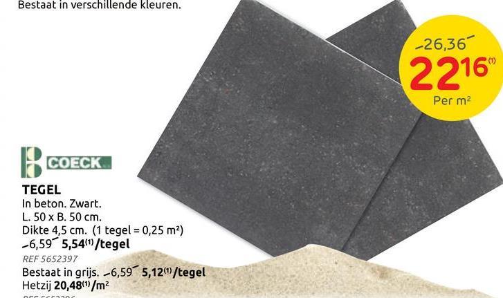 Dalle béton gris 50x50cm La dalle de béton est un choix classique et est parfois appelé «dalle de trottoir» dans le langage courant. Le carrelage de béton gris s'intègre dans n'importe quel jardin et même dans tout autre environnement, en raison de son style neutre. Vous placez traditionnellement le carreau de béton sur une fondation de sable ou de ciment, mais vous pouvez également le placer sur des supports pour carrelage. La dalle est également facile à placer grâce aux entretoises incluses. <br><br> Ce pavé de béton mesure 50 sur 50 cm, avec une épaisseur de 4,5 cm. Avez-vous besoin d'une taille différente pour votre dallage, ou recherchez-vous un carreau dans un matériau qui vous convient davantage? Jetez un œil au <u> <a href=:https://www.brico.be/fr/jardin-ext%C3%A9rieur/pavage/dalles-de-jardin/g135/:target=:_blank:> catalogue en ligne </u> </a> de Brico BricoPlanit.