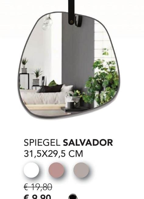 SPIEGEL SALVADOR 31,5X29,5 CM € 19,80 €99