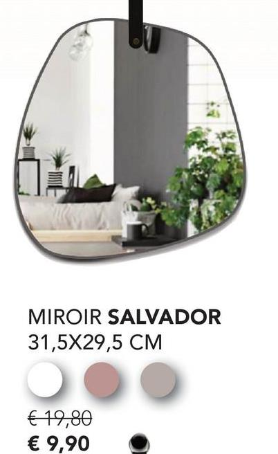 MIROIR SALVADOR 31,5X29,5 CM € 19,80 € 9,90