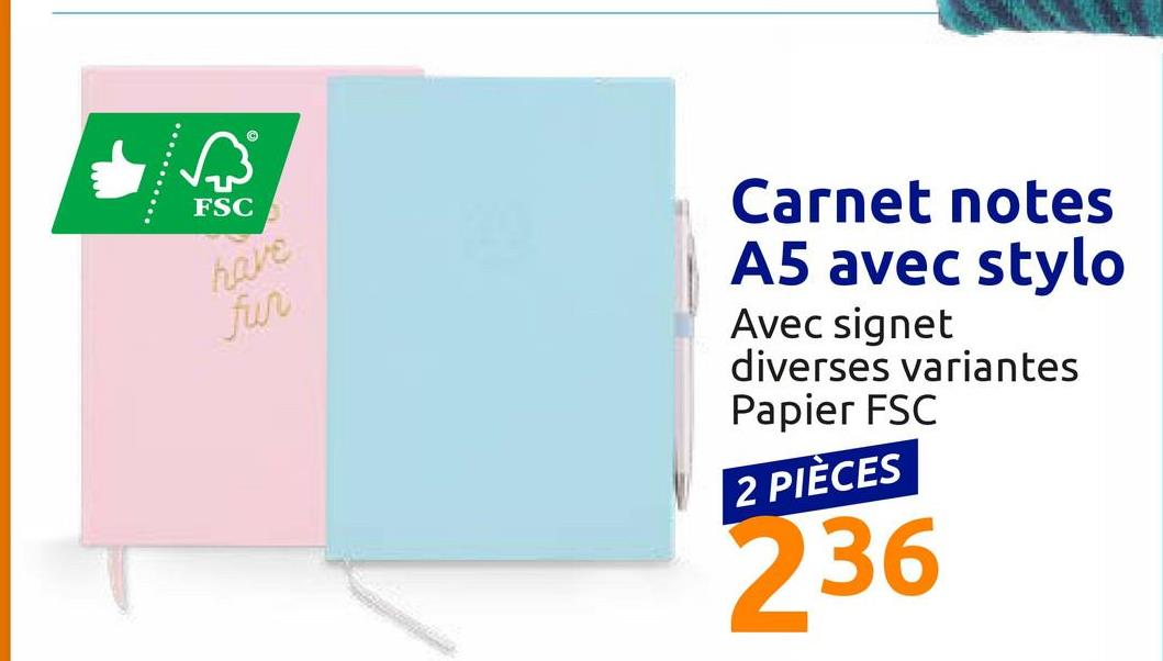 Notebook A5 avec stylo <ul><li>Avec boucle pour fixer un stylo</li><li>Avec un signet et une découpe</li><li>Bois et papier certifiés FSC</li></ul><br />Regroupez toutes vos notes dans ce carnet de jolie forme avec une couverture en simili cuir.