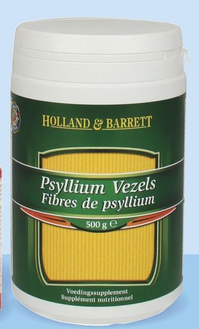 HOLLAND & BARRETT Psyllium Vezels Fibres de psyllium 500 g e Voedingssupplement Supplément nutritionnel