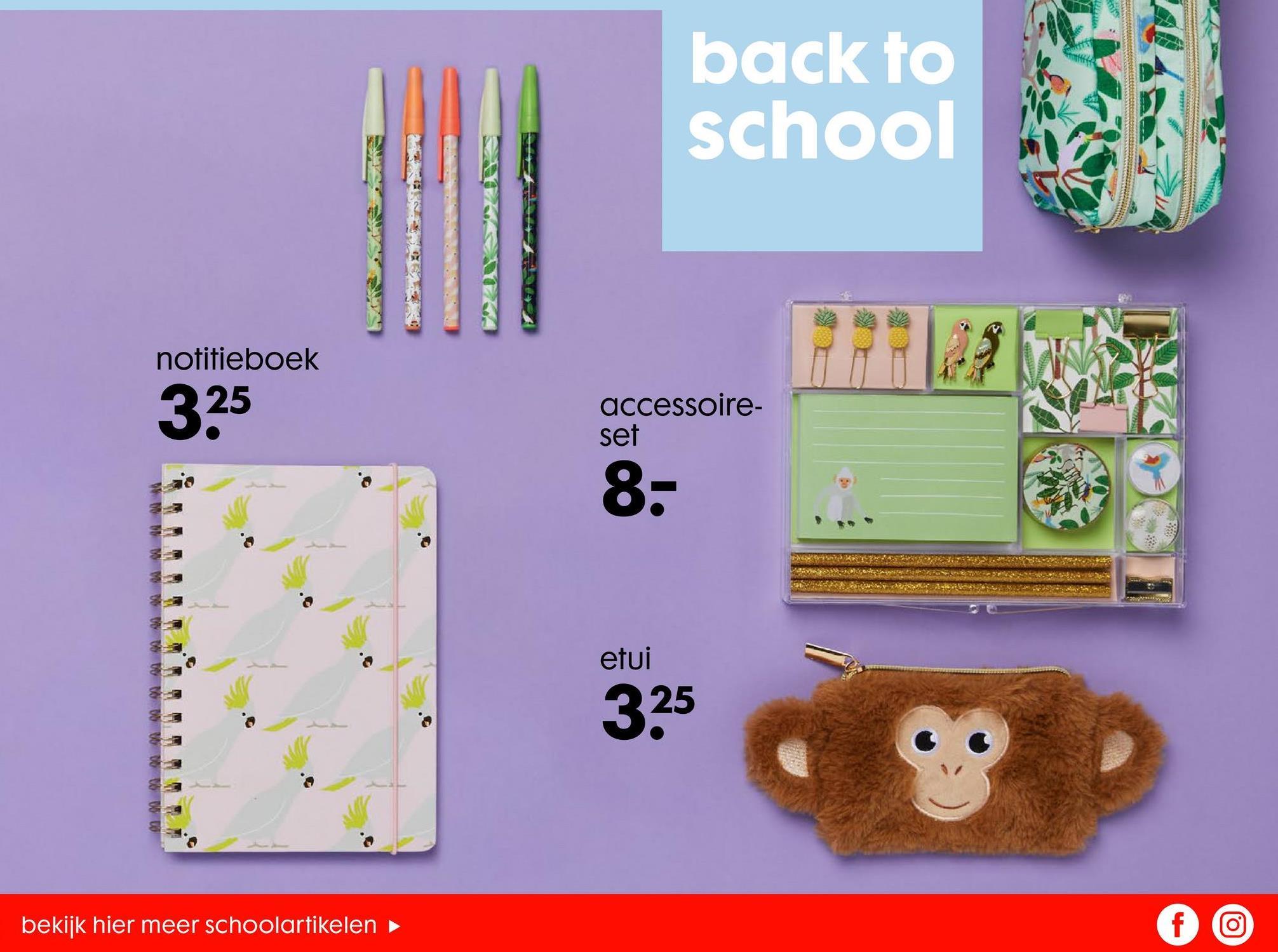 back to school notitieboek 325 accessoire set 8: 带 WM WWW etui cu 325 bekijk hier meer schoolartikelen f ro