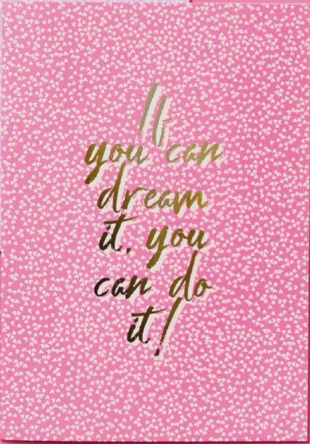 you can dream . 1. у can do